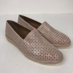 Trask Blush Paige Suede Slip On Sneaker 8.5